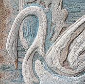 """Картины и панно ручной работы. Ярмарка Мастеров - ручная работа """"Лебедь"""" из песка картина.. Handmade."""