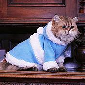 Для домашних животных, handmade. Livemaster - original item The the snow maiden costume for cats and dogs. Handmade.