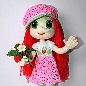 Куклы и игрушки ручной работы. Ярмарка Мастеров - ручная работа Принцесса Земляничка. Вязаная кукла.. Handmade.