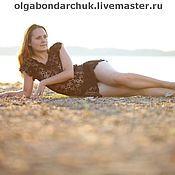 Одежда ручной работы. Ярмарка Мастеров - ручная работа Пляжное черное ажурное платье. Handmade.