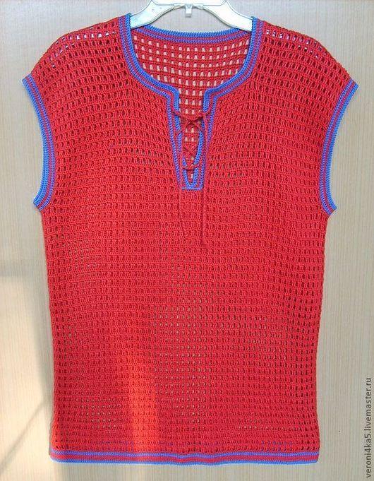 Для мужчин, ручной работы. Ярмарка Мастеров - ручная работа. Купить Майка из льна для жаркого лета. Handmade. Мужская одежда