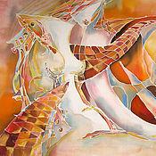 Картины и панно ручной работы. Ярмарка Мастеров - ручная работа оранжевое настроение. Handmade.