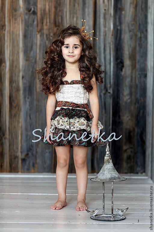 Одежда для девочек, ручной работы. Ярмарка Мастеров - ручная работа. Купить Платье для девочки летний сарафан  хлопковый Карина. Handmade.