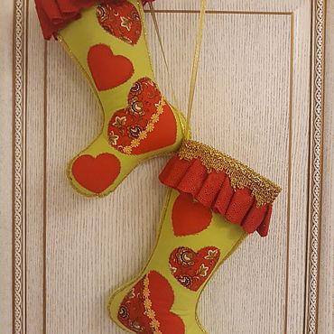 Для дома и интерьера ручной работы. Ярмарка Мастеров - ручная работа Рожденственские сапоги. Handmade.