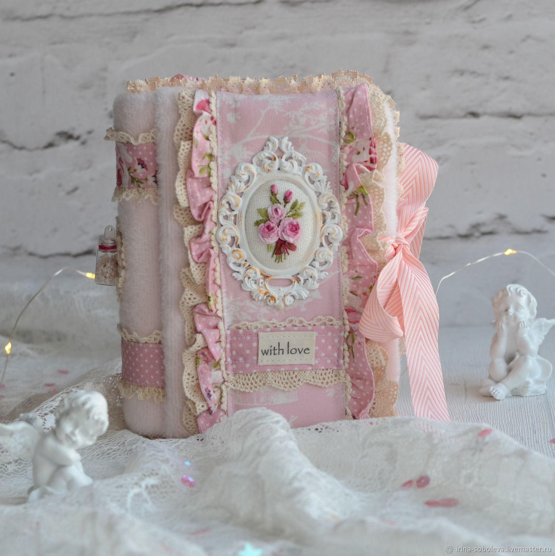 Розовый романтический блокнот ручной работы, Блокноты, Москва,  Фото №1