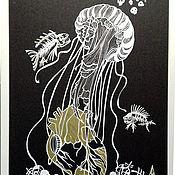 Картины и панно handmade. Livemaster - original item Medusa and the Heart. Handmade.