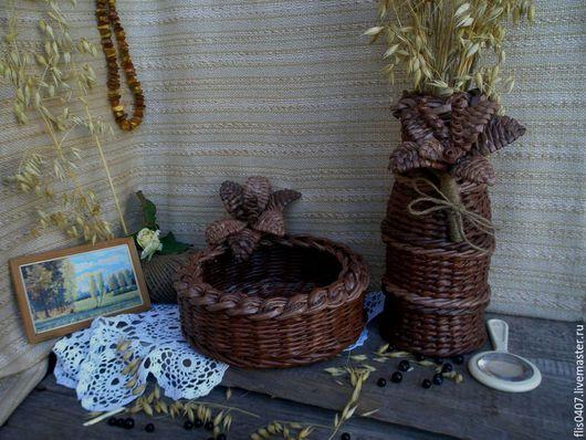 Кухня ручной работы. Ярмарка Мастеров - ручная работа. Купить Уют в Ваш дом. Handmade. Коричневый, ваза для цветов
