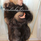Работы для детей, handmade. Livemaster - original item Children`s fur coat from the silver Fox. Handmade.