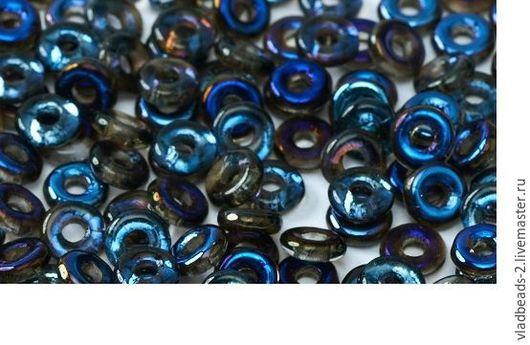 Для украшений ручной работы. Ярмарка Мастеров - ручная работа. Купить O-bead 1x4мм Сrystal Azuro. Handmade.