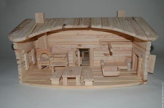 """Кукольный дом ручной работы. Ярмарка Мастеров - ручная работа. Купить Кукольный домик """"Дружба"""". Handmade. Бежевый, сделано с любовью"""