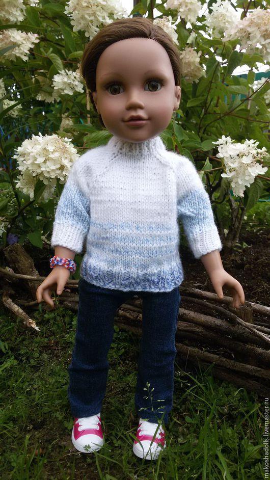 Одежда для кукол ручной работы. Ярмарка Мастеров - ручная работа. Купить Свитер для куклы. Handmade. Свитер вязаный, кукла, gotz