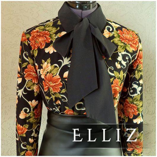 Блузки ручной работы. Ярмарка Мастеров - ручная работа. Купить Блуза № 314. Handmade. Разноцветный, блуза с бантом, вискоза