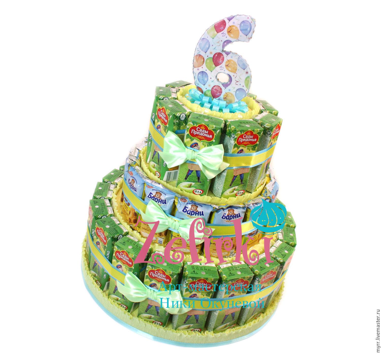 Торт из конфет своими руками: мастер-класс с пошаговым 45