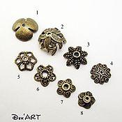 Материалы для творчества handmade. Livemaster - original item Bead caps in stock Art. ShB01. Handmade.