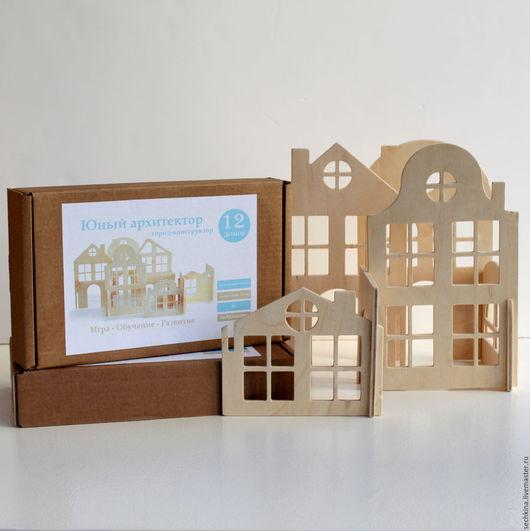 Деревянные игрушки, конструктор, набор игрушек, деревянные домики, юный архитектор. Мастер Сечкина Юлия http://www.livemaster.ru/sechkina