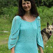 Одежда ручной работы. Ярмарка Мастеров - ручная работа Лето в голубом Кофточка. Handmade.