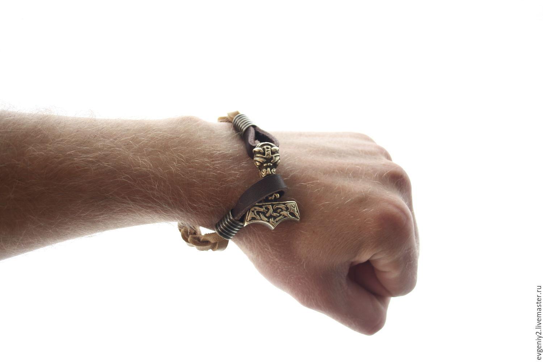 Men's bracelet with Thor's Hammer, Pendants, Volgograd,  Фото №1