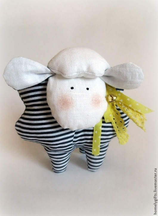 Куклы Тильды ручной работы. Ярмарка Мастеров - ручная работа. Купить Овечка Тельняшка. Handmade. Синий, овечка в подарок