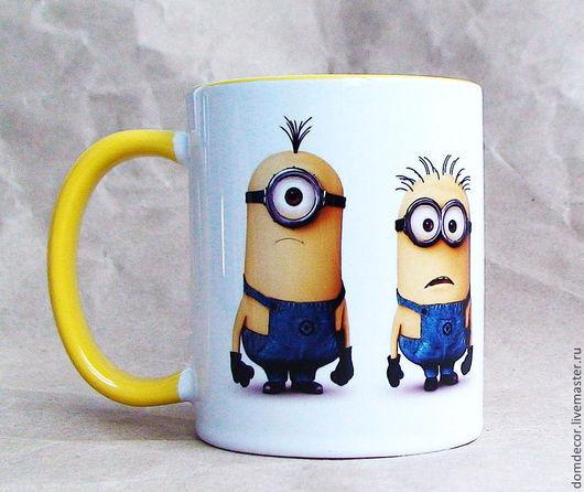 """Кружки и чашки ручной работы. Ярмарка Мастеров - ручная работа. Купить Чашка """"Миньоны-2"""". Handmade. Желтый, кружка"""