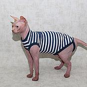 Для домашних животных, ручной работы. Ярмарка Мастеров - ручная работа Тельняшка. Handmade.