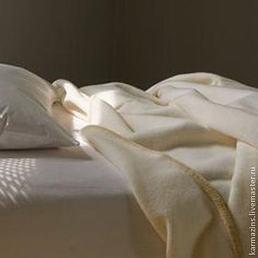 Для дома и интерьера ручной работы. Ярмарка Мастеров - ручная работа Одеяло, шерсть кашемира МИЛКИ. Handmade.