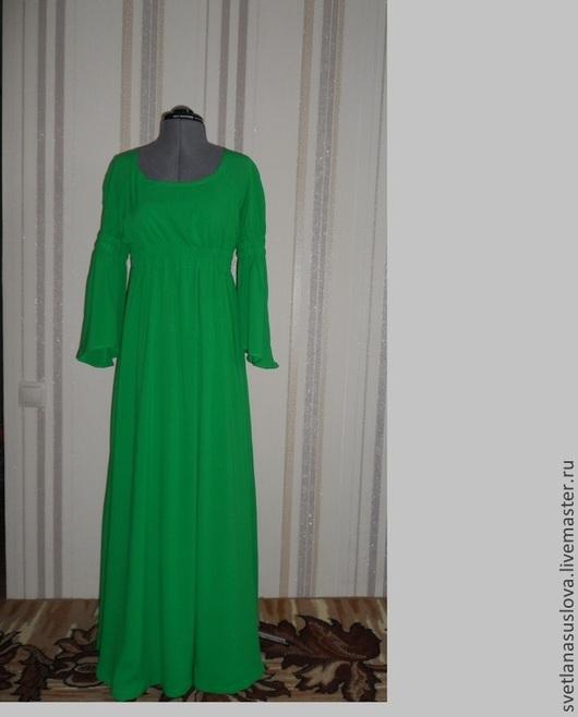 """Платья ручной работы. Ярмарка Мастеров - ручная работа. Купить Платье """"Зелень"""". Handmade. Зеленый, вискоза"""