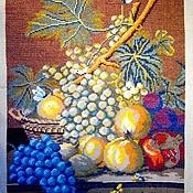 """Картины и панно ручной работы. Ярмарка Мастеров - ручная работа Вышитая картина по мотиву Жана Франсуа Даля """"Фрукты"""". Handmade."""