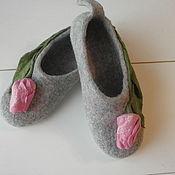 """Обувь ручной работы. Ярмарка Мастеров - ручная работа Тапочки """" Тюльпан"""". Handmade."""