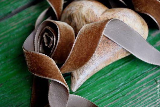 """Шитье ручной работы. Ярмарка Мастеров - ручная работа. Купить Бархатная лента """"Шоколад"""" (Швеция). Handmade. Лента, декоративная лента"""