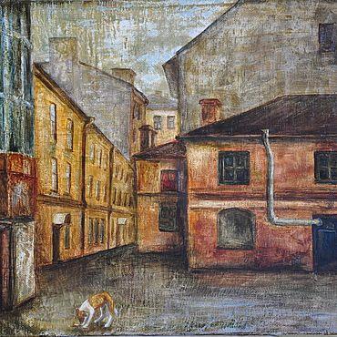 Картины и панно ручной работы. Ярмарка Мастеров - ручная работа Питерский дворик. Handmade.