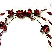 Украшения handmade. Livemaster - original item Brooch made of silk, Mary Silk floral. Handmade.