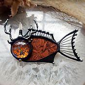Украшения handmade. Livemaster - original item Brooch Autumn fish-deer (bro-023). Handmade.