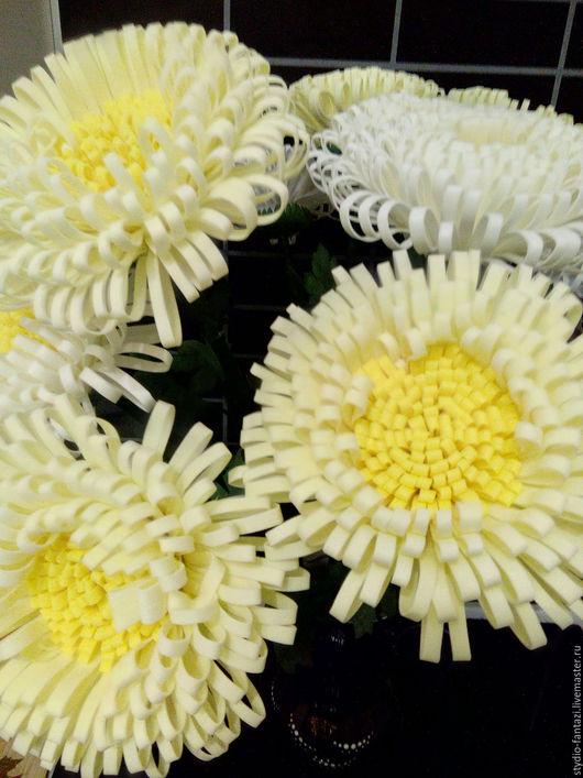 Цветы ручной работы. Ярмарка Мастеров - ручная работа. Купить Цветы из фоамирана интерьерные - Хризантемы. Handmade. Цветы из фоамирана