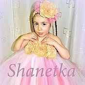 Работы для детей, ручной работы. Ярмарка Мастеров - ручная работа Пышное платье для девочки Букет цветов. Handmade.