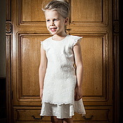 Работы для детей, handmade. Livemaster - original item Felt kit - white tunic dress and skirt. Handmade.