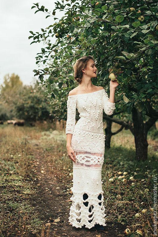 """Платья ручной работы. Ярмарка Мастеров - ручная работа. Купить Платье """"Полли"""". Handmade. Белый, платье в пол"""