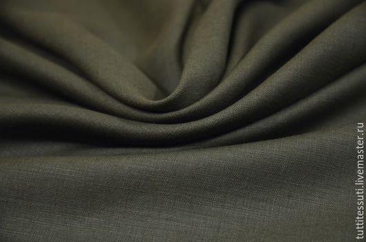 Шитье ручной работы. Ярмарка Мастеров - ручная работа. Купить Лен 02-003-2752. Handmade. Зеленый, Плательная ткань