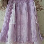 Одежда handmade. Livemaster - original item Nuno-felted skirt Light wind. Handmade.