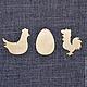ПСХ-003. Набор пасхальных подвесок из фанеры для декупажа и росписи. Псхальные заготовки для декупажа.