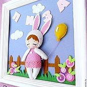 Картины и панно ручной работы. Ярмарка Мастеров - ручная работа Именное панно в детскую. Handmade.