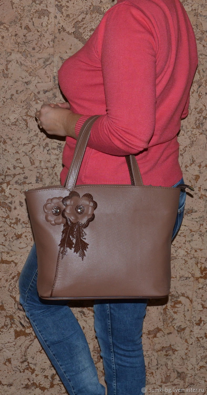 Leather bag bag made of genuine leather, the Model 101, Classic Bag, Bogorodsk,  Фото №1