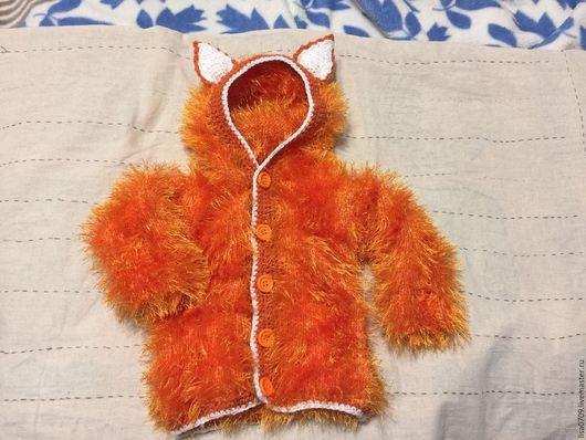 Одежда для девочек, ручной работы. Ярмарка Мастеров - ручная работа. Купить Кофточка - лисичка. Handmade. Рыжий, вязание на заказ