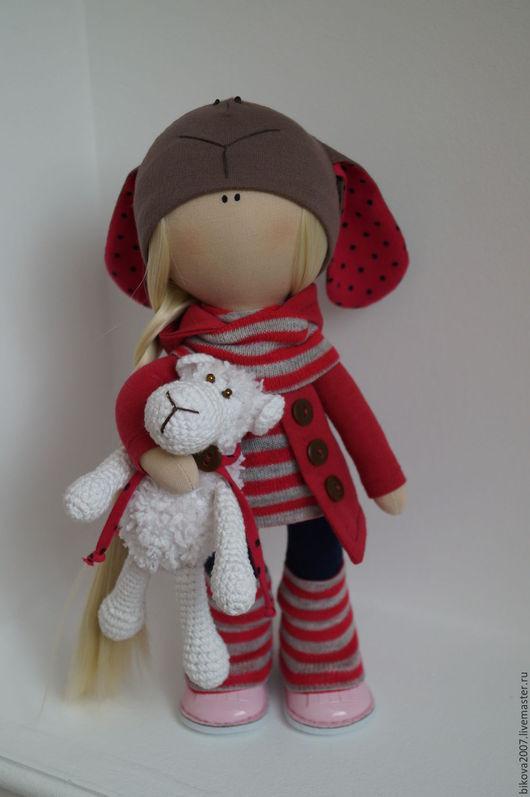 Коллекционные куклы ручной работы. Ярмарка Мастеров - ручная работа. Купить Интерьерная кукла. Handmade. Фуксия, хлопок