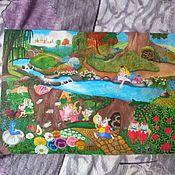 Картины и панно ручной работы. Ярмарка Мастеров - ручная работа Алиса в стране чудес , Дисней. Handmade.