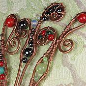 """Украшения ручной работы. Ярмарка Мастеров - ручная работа Шпилька для волос """"Индейская бабочка"""". Handmade."""