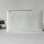 Канцелярские товары ручной работы. Ярмарка Мастеров - ручная работа Визитница белая на 16 визиток. Handmade.