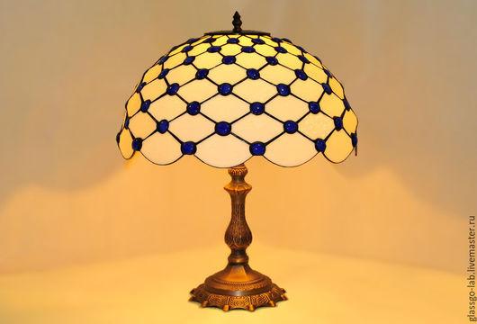 Настольная лампа `Марблз`, стекло, Тиффани, D- 40 см, 192 деталей.
