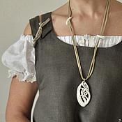 Украшения handmade. Livemaster - original item Porcelain pendant from the series