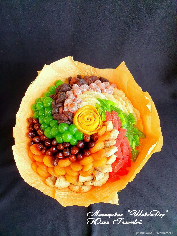 Букет из  сухофруктов спиралька с манго №1, Съедобные букеты, Мытищи,  Фото №1