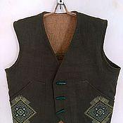 Одежда handmade. Livemaster - original item Men`s nettle vest 100%.. Handmade.